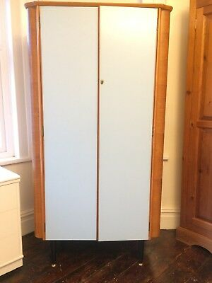 Original vintage 1950's wardrobe. Art Deco style by Homeworthy. Oak & formica