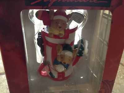 Kirkland Signature Mice In Golf Bag Christmas Collectible Gift Ornament  NIB!
