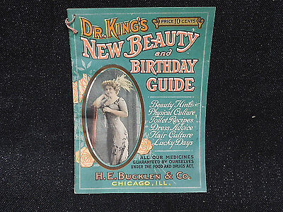 Dr. King's New Beauty & Birthday Guide Magazine 1900's ? H.e. Bucklen Chicago