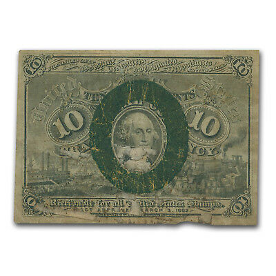 2nd Issue Fractional Currency 10 Cents VG (FR#1245, Surcharge) - SKU #47838