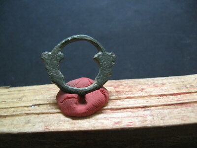 DOUBLE UROBOROS OPENWORK AMULET ANCIENT CELTIC BRONZE TALISMAN 500-200 BC. 25 mm