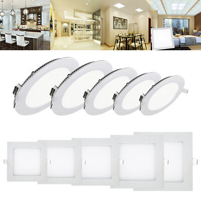 Downlight Dimmable Ceiling Led Recessed Panel Flat Light Fitting Lamp Ultra Slim