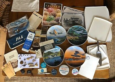 Entire Pan Am Lot Jewelry, Pins, Plates etc.