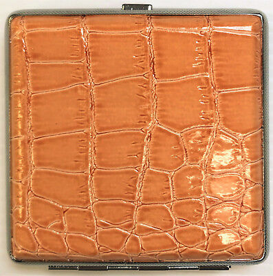 Eclipse Orange Gator Crushproof Cigarette Case Wallet, Holds 20 King Cigarettes