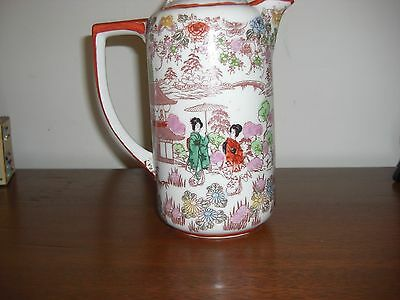 "Lovely Vintage Hand Painted Japanese 9"" Coffee/tea Pot"