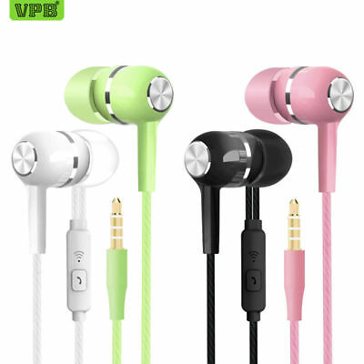 VPB S12 Sport Earphone Wired Super Bass 3.5mm Crack Colorful Headset Earbud with