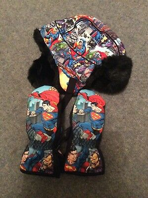 H&M Super Heroes Hat And Gloves Age 3-6