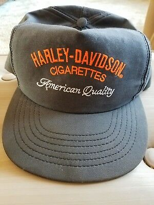 NOS HARLEY DAVIDSON CIGARETTES Hat Embroidered American Quality Made in the USA