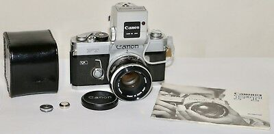 Canon FT QL 35mm SLR Film Camera + FL 50mm f1.8 Lens + Booster Working Condition