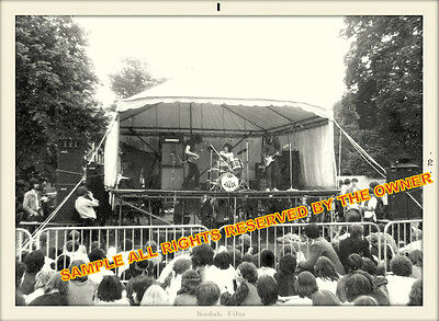 Rory Gallagher  Photo Taste Open Air Concert 1970 Snapshot Bw Dated