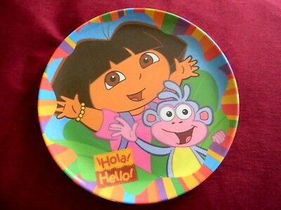 Baby kids dinner plate Dora the Explorer and Boots the monkey