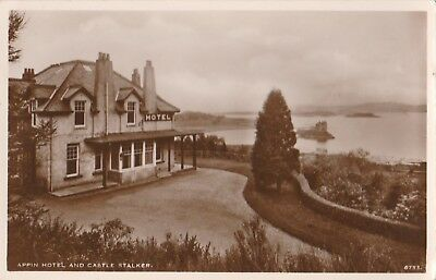 Perthshire,appin Hotel And Castle Stalker . R/photo, Postcard