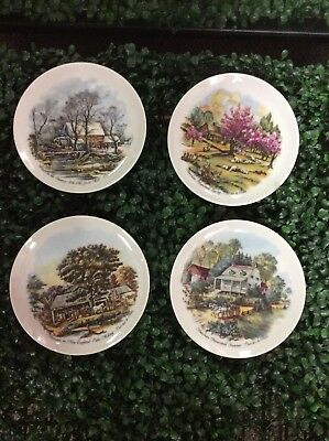 Four Seasons Plates Currier & Ives American Homestead Series