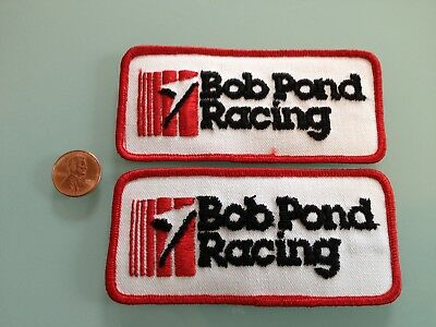 2 Vintage BOB POND RACING pond racer airplane PATCH LOT iron on Reno Air Races