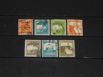 Palestine stamps for sale - 7 early used stamps - super !!