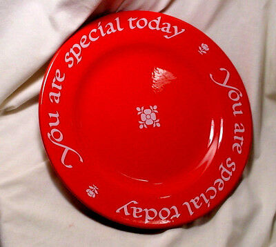 """The Original Red Plate Company Germany You Are Special Today 1979 10"""" Dinner"""