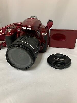 Nikon D5300 24.2 MP CMOS Digital SLR Camera with 18-55mm RED (c00007)