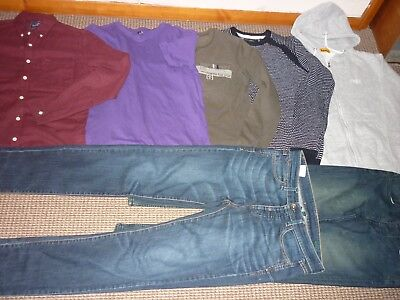 Bundle Boys Clothes age 14-15yrs Jeans Sweatshirt Tops Shirt  Donnay Topman