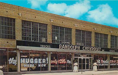 Camden New Jersey Randolph Chevrolet Dealership Vintage Postcard View