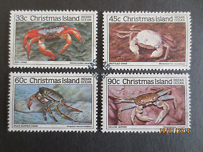 NO--2--1985   CHRISTMAS    ISLAND  CRABS   Part  111--4  STAMPS--F/S--USED