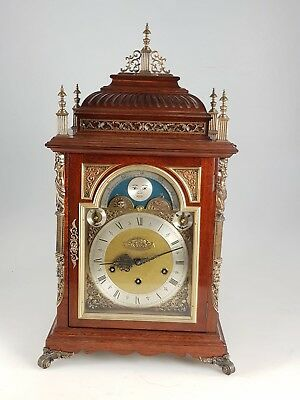 Large Vintage Mahogany Musical Triple Chime Bracket Clock