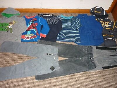 Bundle Boys Clothes age 5-6yrs Jeans Joggers Tops Sweatshirts Spiderman  Ben 10