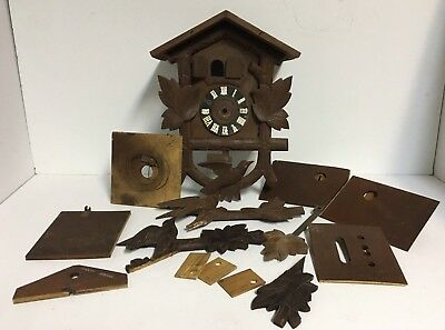 Vintage Wooden Cuckoo Clock Parts ~ Made in Germany ~