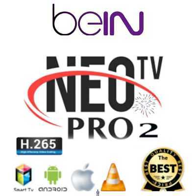 NEO iptv Pro2.... ABONNEMENT 12 mois,smart Iptv, android TV box, mag,H265.mobile