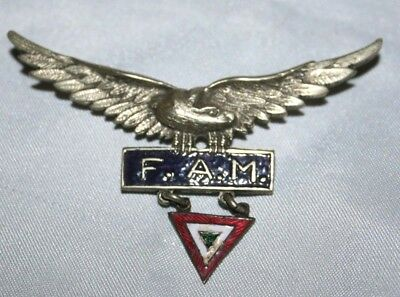 Vintage Mexican Air Force (Fuerza Aérea Mexicana) F.a.m. Pilot's Wings Badge