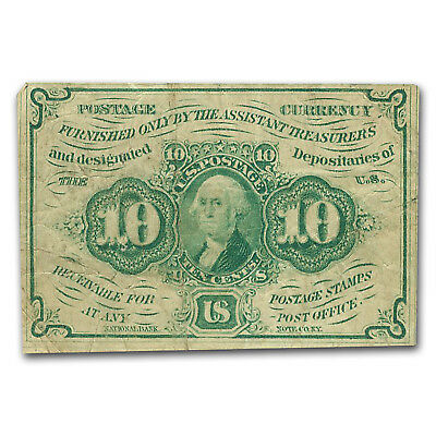 1st Issue Fractional Currency 10 Cents Fine (FR#1242) - SKU #47830