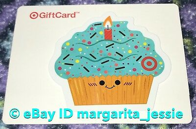 TARGET DIE CUT Gift Card 2016 Happy Birthday Blue Cupcake No Value New
