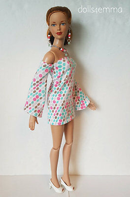 "TYLER DOLL CLOTHES Summer Dress and Jewelry for 16"" Tonner Sydney hm FASHION d4e"