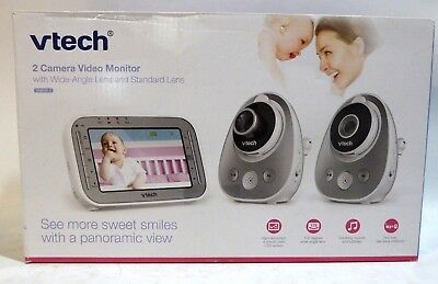 Vtech VM342-2 Safe & Sound Expandable Digital Video Baby Monitor with 2 Cameras
