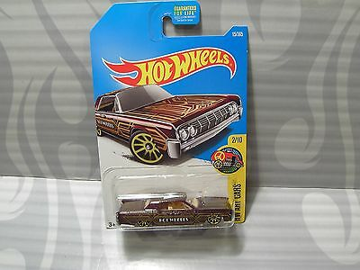 2017 HOT WHEELS ''HW ART CARS'' #15 = `64 LINCOLN CONTINENTAL = BROWN us