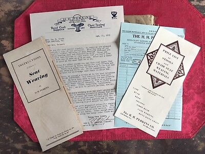 1935 H H Perkins New Haven Conn Reed Craft Chair Seating Materials Advertising