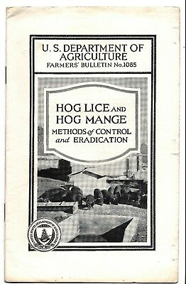 Lot of 4 brochures- Hogs- Pigs- Swine- USDA 1917-1940s Production, care, lice