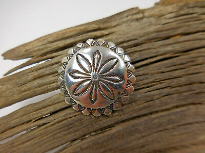 Vintage Bell Sterling Silver Southwest Concho Button 1""