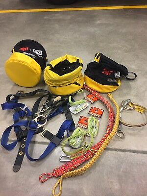 Lineman's Gear, Harness, Ropes, Lanyards, Cable And Buckets