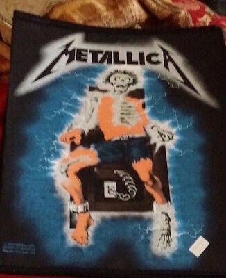 New Old METALLICA   Unused  80s BACK PATCH   Metal Thrash Made In Englan