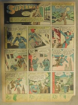 Superman Sunday Page #34 by Siegel & Shuster from 6/23/1940 Tab Page: Year #1!