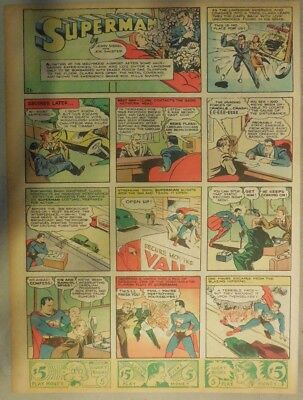 Superman Sunday Page #26 by Siegel & Shuster from 4/28/1940 Tab Page: Year #1!