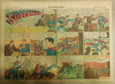 Superman Sunday Page #323 by Siegel & Shuster from 1/7/1946 Half Page:Year #7!