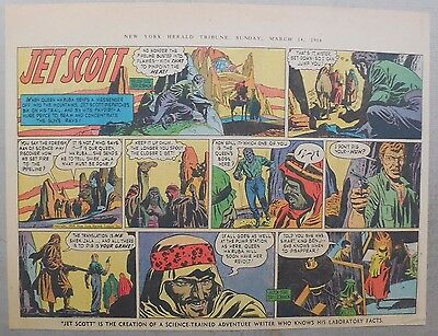 Jett Scott Page by Jerry Robinson & Sheldon Stark from 3/14/1954 Half Page Size!