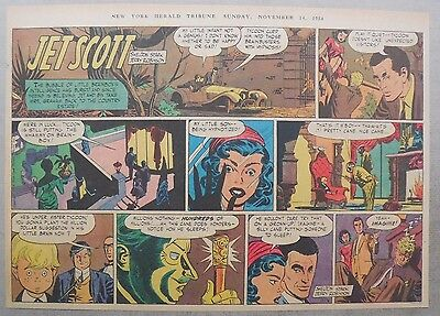 Jett Scott Page by Jerry Robinson, Sheldon Stark from 11/14/1954 Half Page Size!