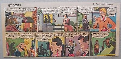 Jett Scott Page by Jerry Robinson,Sheldon Stark from 12/27/1953 Third Page Size!