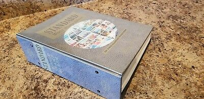 Harris Standard World Stamp Album with 1000's of  stamps  counties A-J