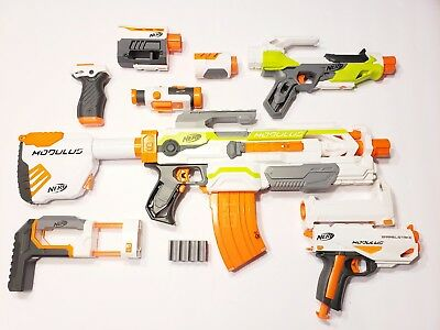 Nerf N-Strike Modulus ECS-10 Blaster with Clip And Tons Of Extras tested works