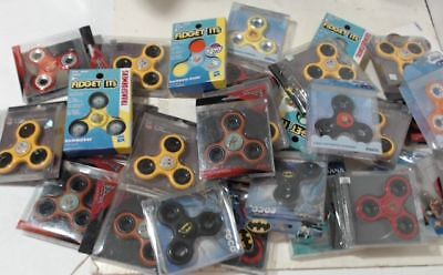 NEW Lot of 30 Three Way Diztracto / Fidget Spinners, Assorted Pattern $150