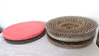 """Floor Scrubber Buffer Bristle Brushes 13"""" Polisher Replacement Parts"""
