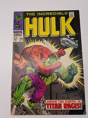 Incredible Hulk 4 Comic Lot. 106,108,110,115. Free Shipping. Bagged And Boarded.